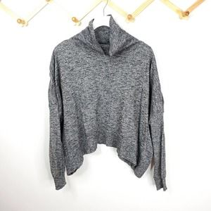 Zara knit sweater turtleneck cropped heather grey